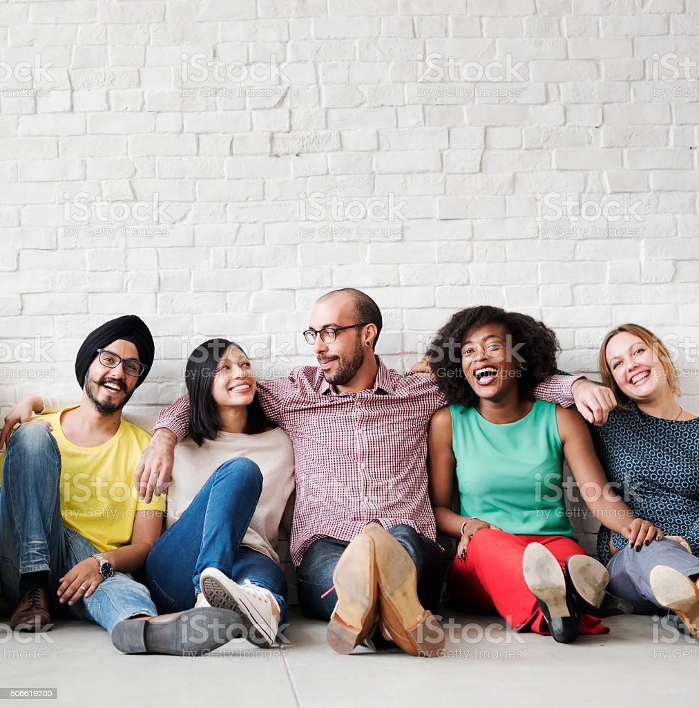 Leisure Teamwork Happiness Hipster Ethnicity Concept
