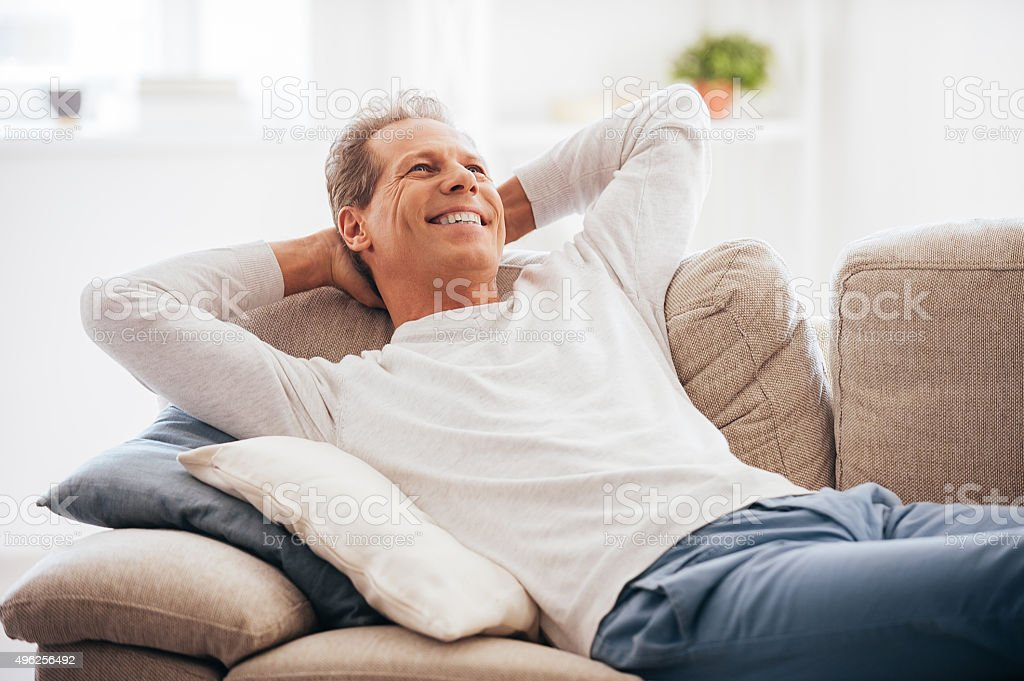 Leisure time at home. stock photo