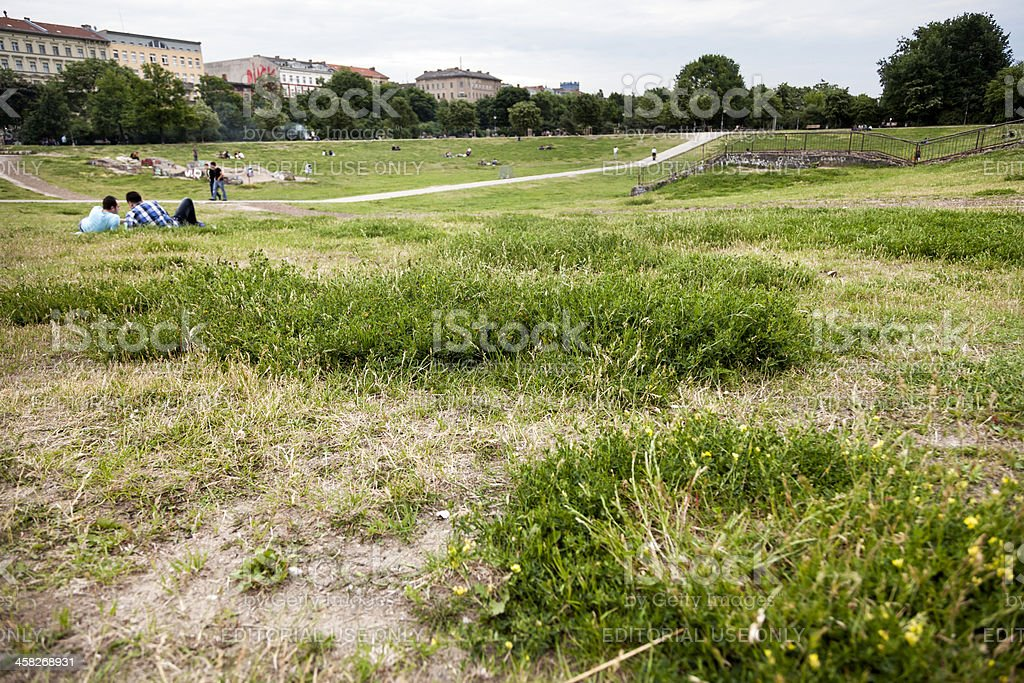Leisure Time in Gorlitzer Park Berlin Germany royalty-free stock photo