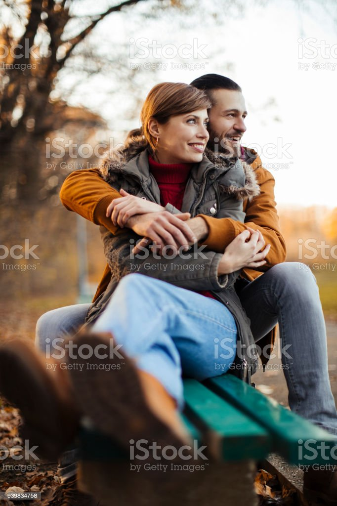 Leisure time in the park stock photo