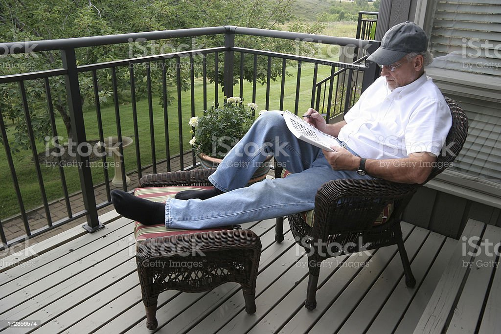 Leisure Time OnThe Deck royalty-free stock photo