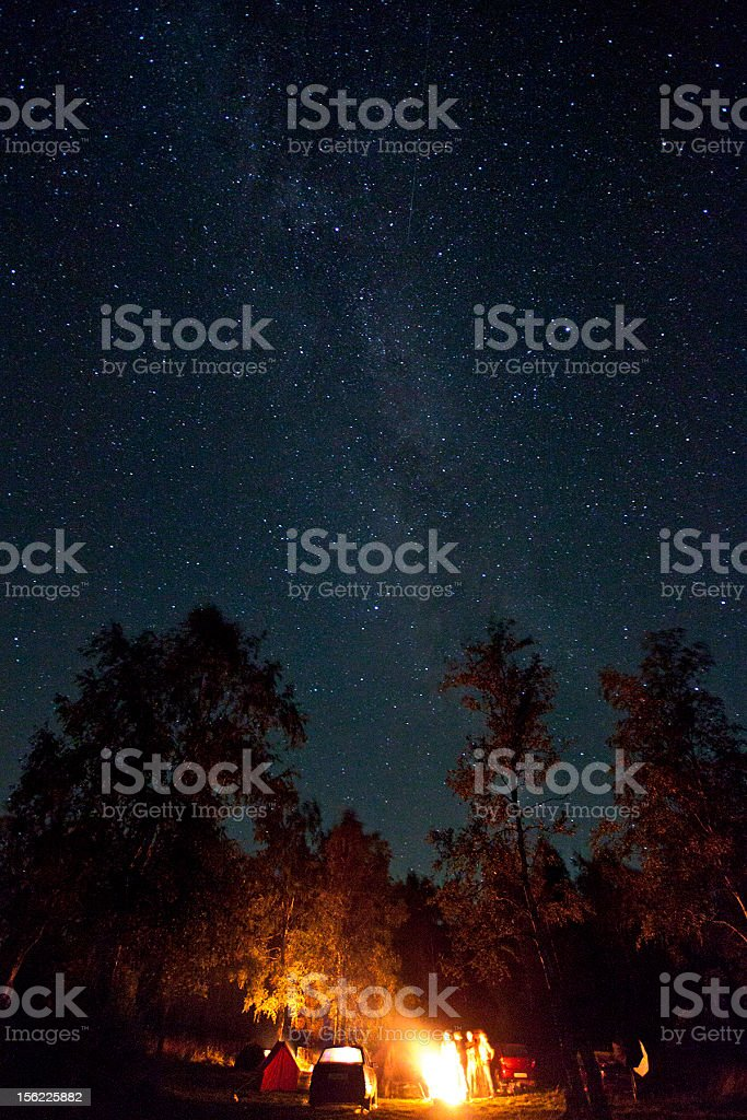 leisure tourists under stars stock photo