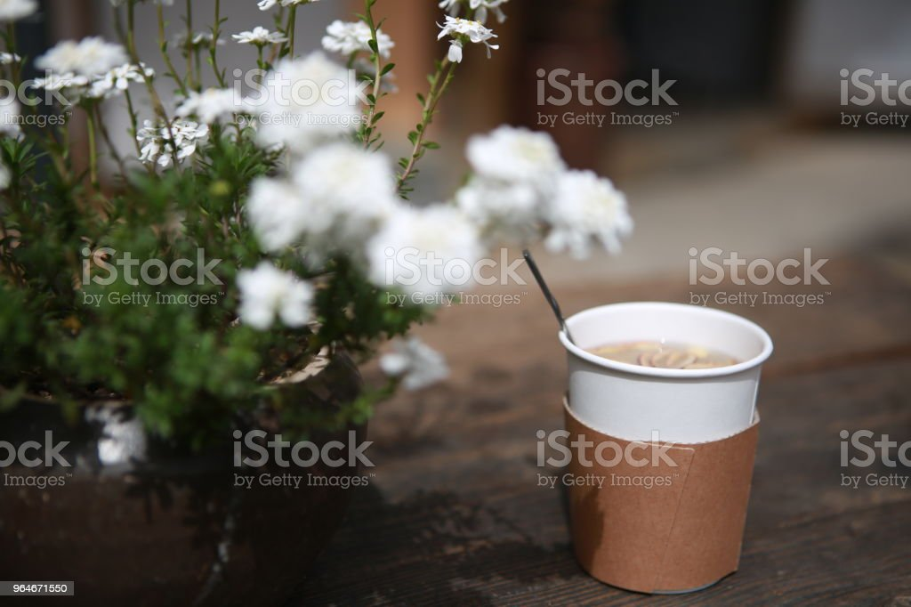 A leisurely cup of tea royalty-free stock photo