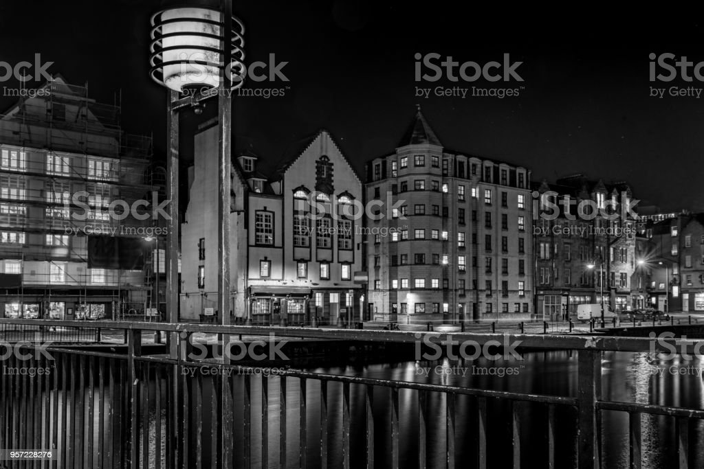 Leith by night stock photo