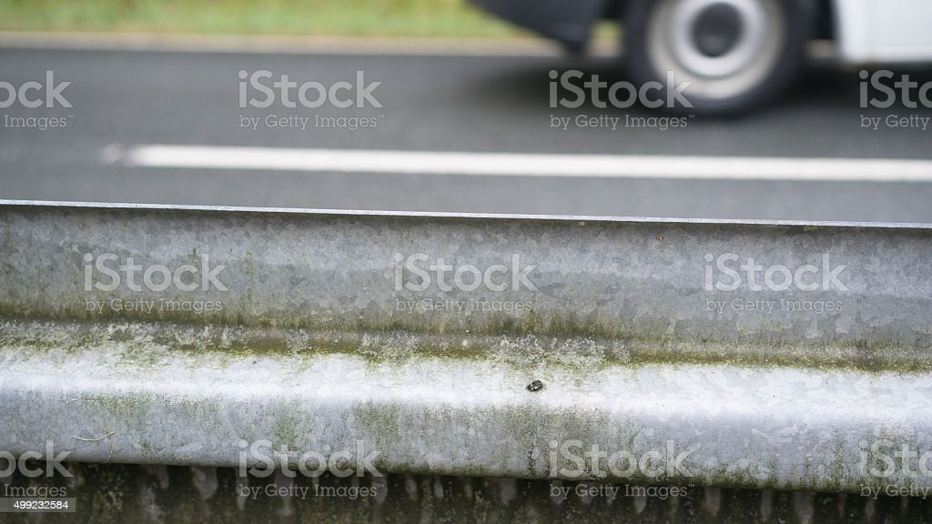 Leitplanke stock photo