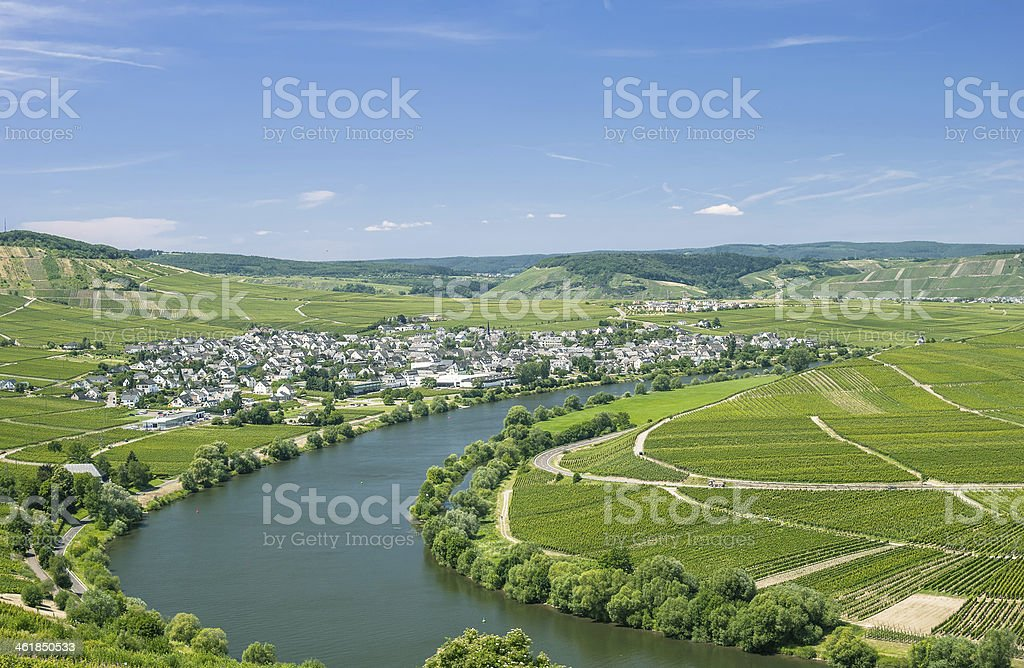 Leiwen,Mosel Valley,Germany stock photo