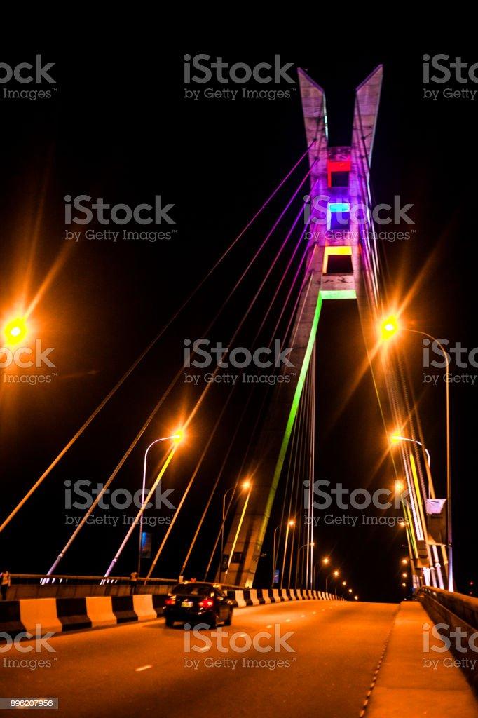 Lekki-Ikoyi Link Bridge - Lagos, Nigeria stock photo