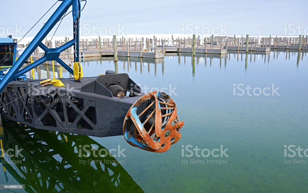 Leland Harbor Dredge Stock Photo & More Pictures of