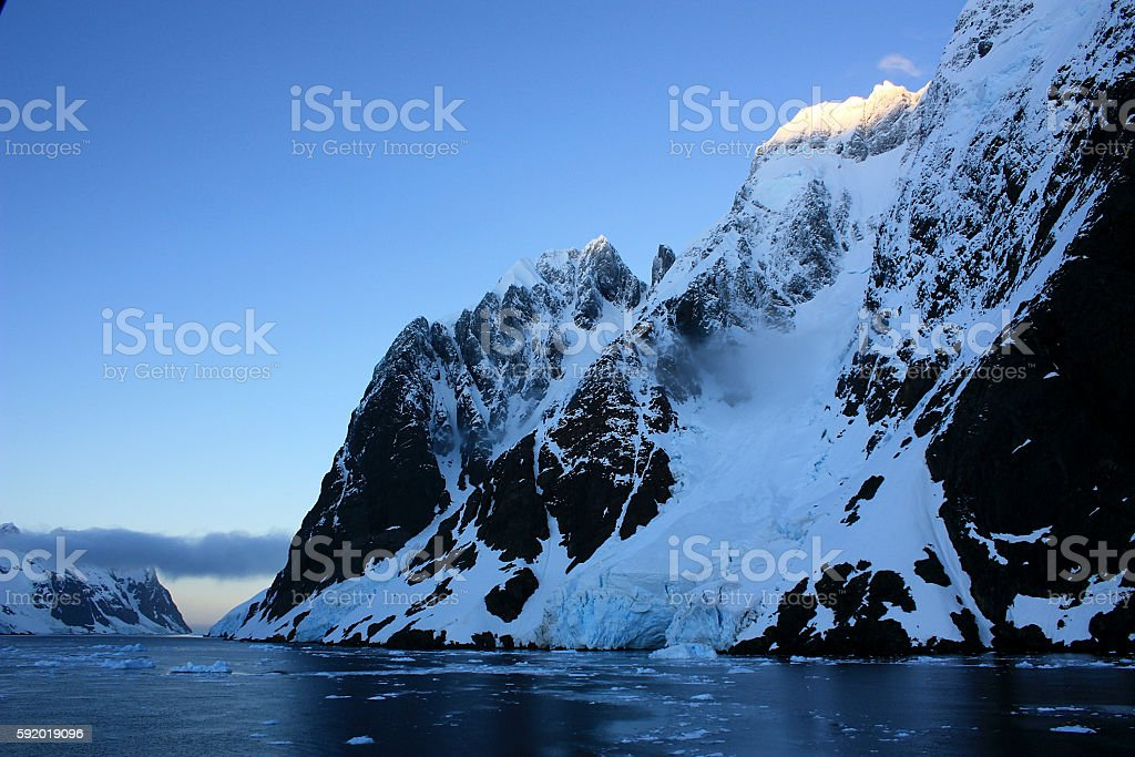 Lemaire Kanal  Antarktis stock photo