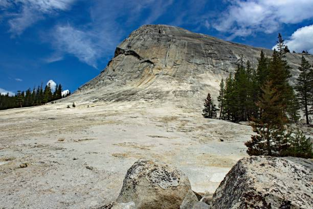 lembert dome at yosemite national park - usa - granite rock stock photos and pictures