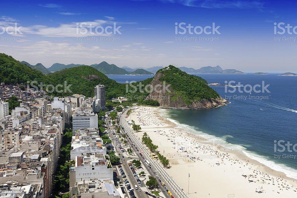 Leme Beach in Rio de Janeiro royalty-free stock photo