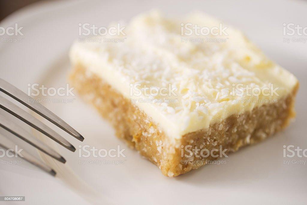 Lemon and Coconut Cake stock photo