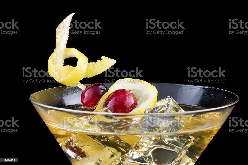 Lemon and cranberry splash cocktail royalty-free stock photo