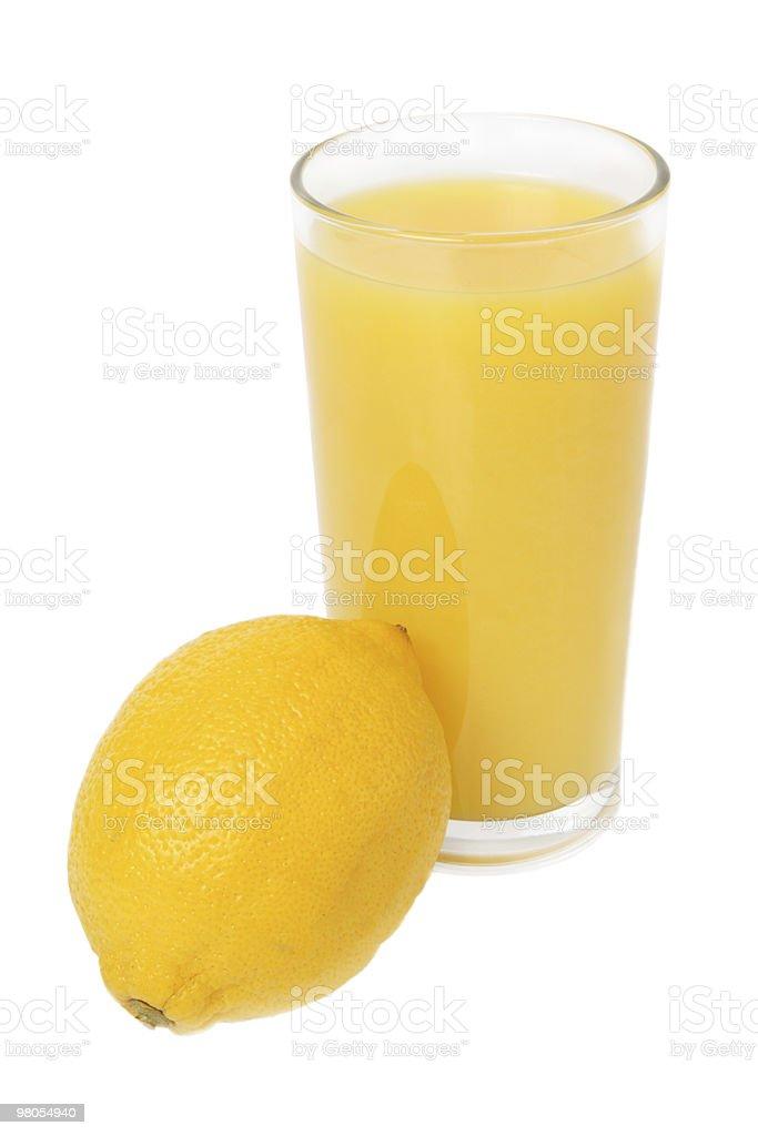 Bicchiere di succo di limone e foto stock royalty-free