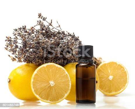 istock Lemon and lavender essential oil 501483748