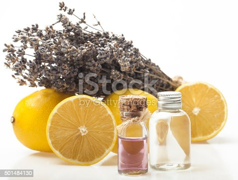 istock Lemon and lavender essential oil 501484130