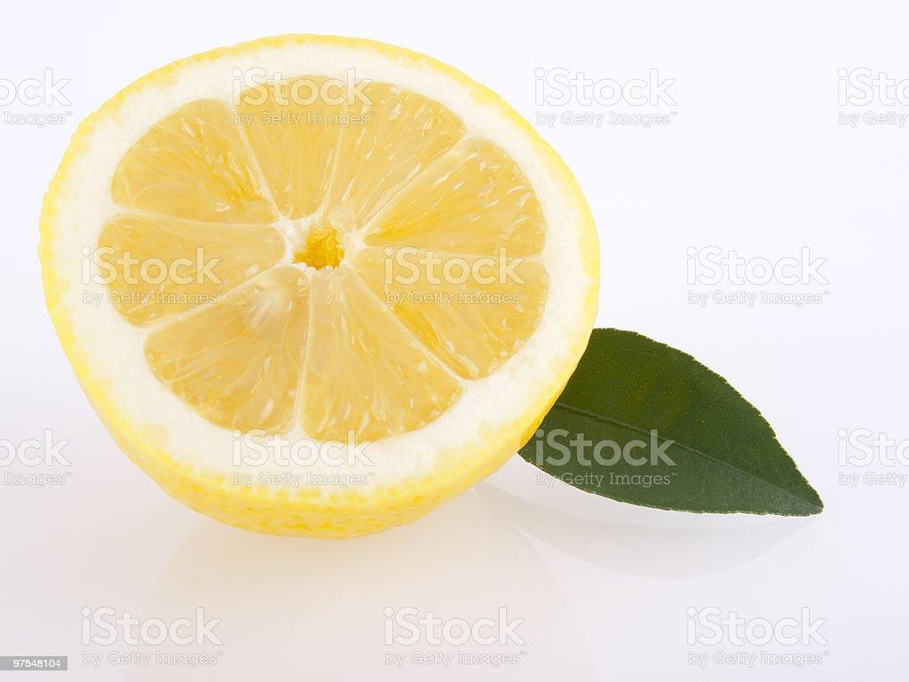 Citron et feuille photo libre de droits