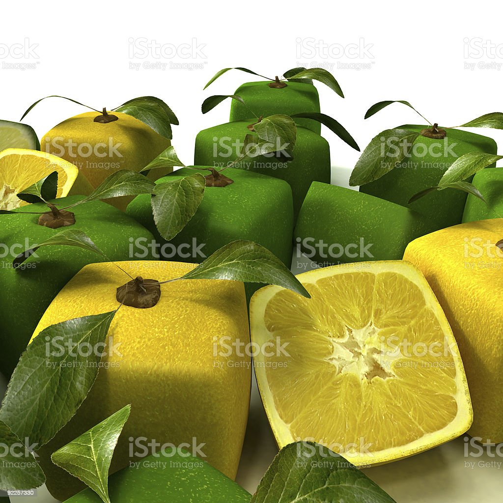 Lemon and lime background close-up royalty-free stock photo