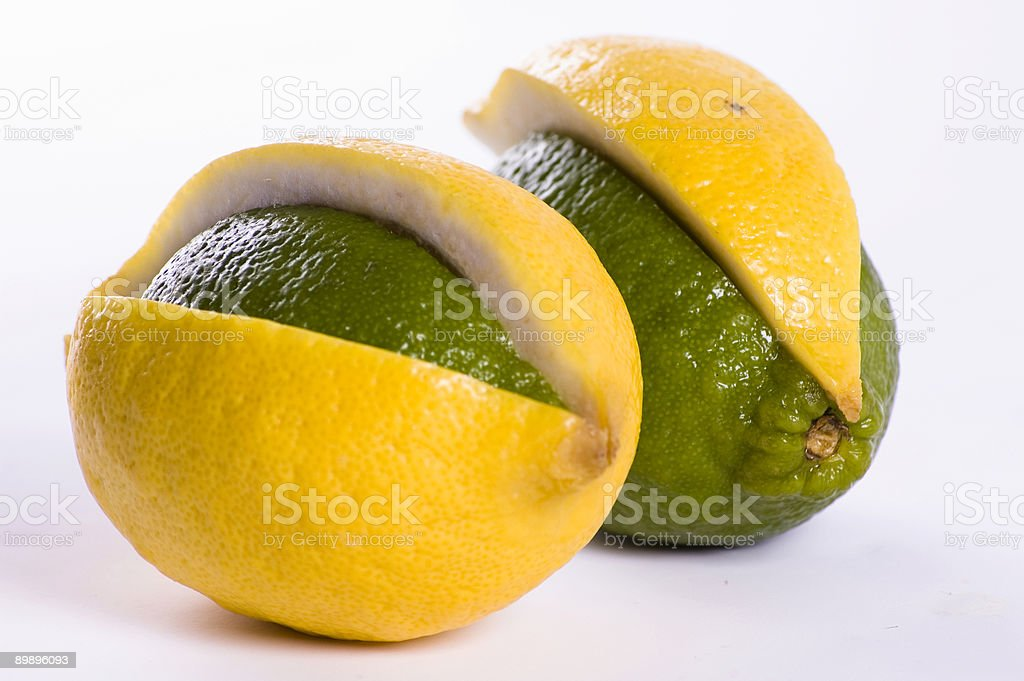 Lemon and lime mix royalty-free stock photo