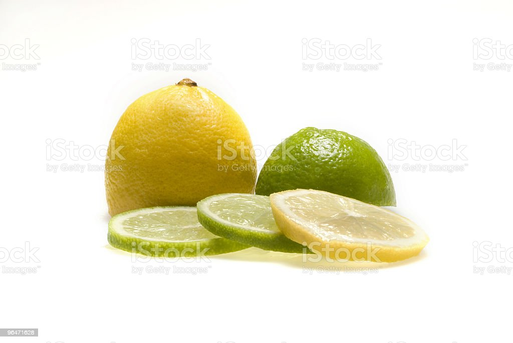 Lemon and lime royalty-free stock photo