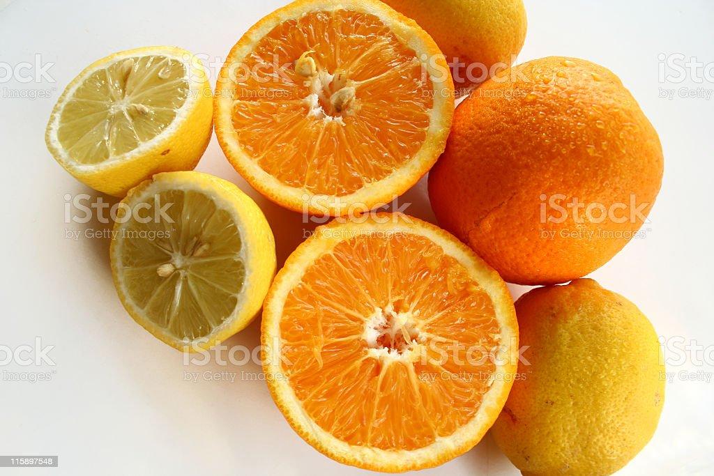 lemon and orange royalty-free stock photo