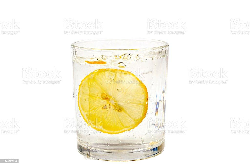 Limone e acqua foto stock royalty-free