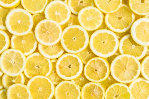 lemon slices full frame