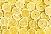 lemon slices full frame