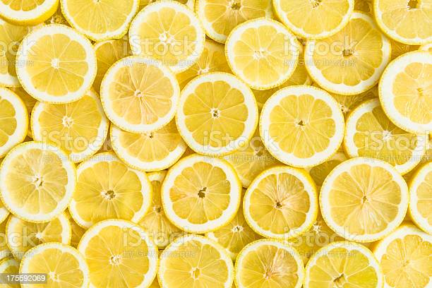 Lemon Background Stock Photo - Download Image Now