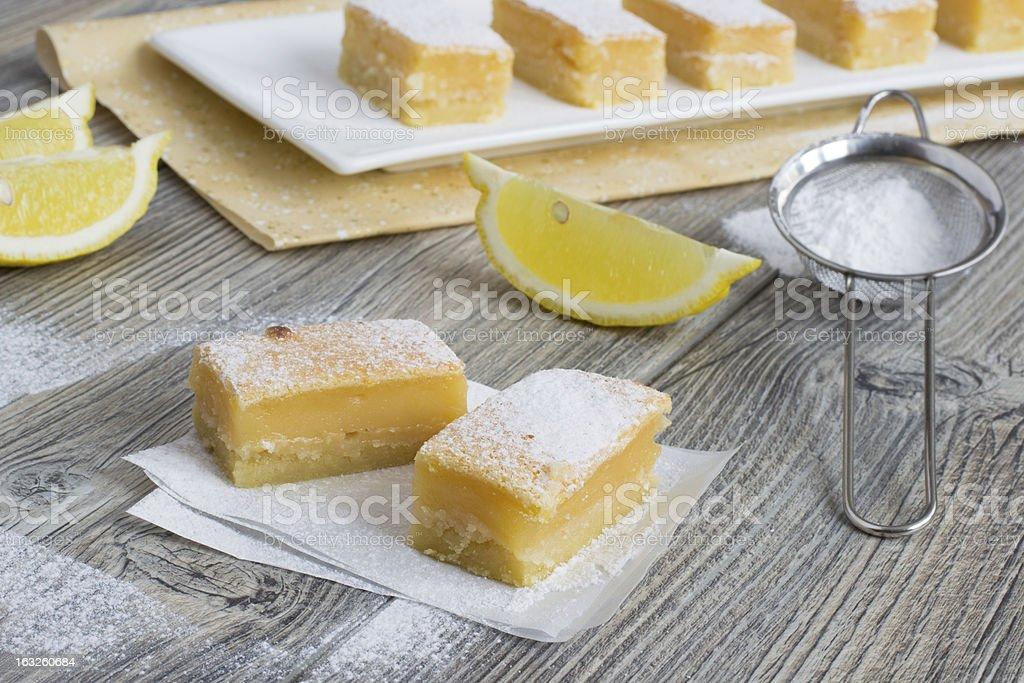 Lemon bars - traditional American sweets royalty-free stock photo