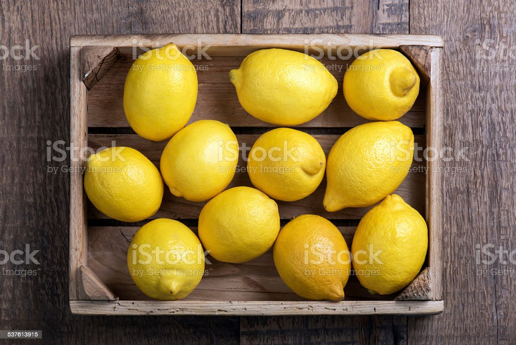 Lemon Box stock photo