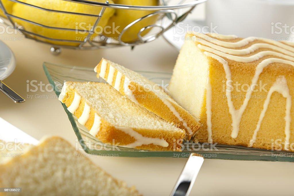 레몬색 케이크 클로즈업 royalty-free 스톡 사진