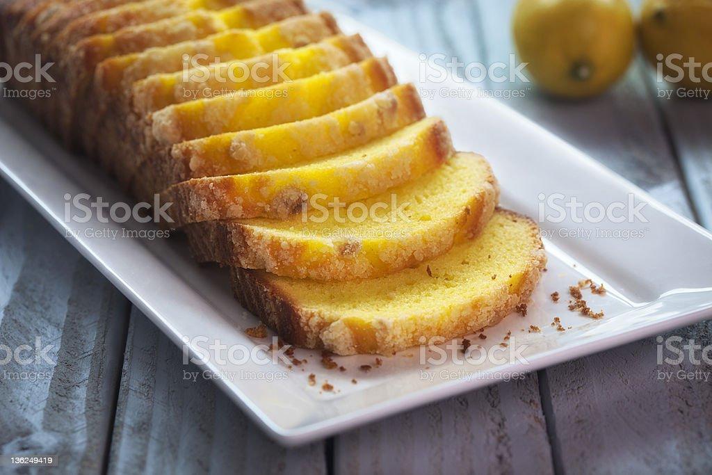 Lemon Cake Loaf royalty-free stock photo