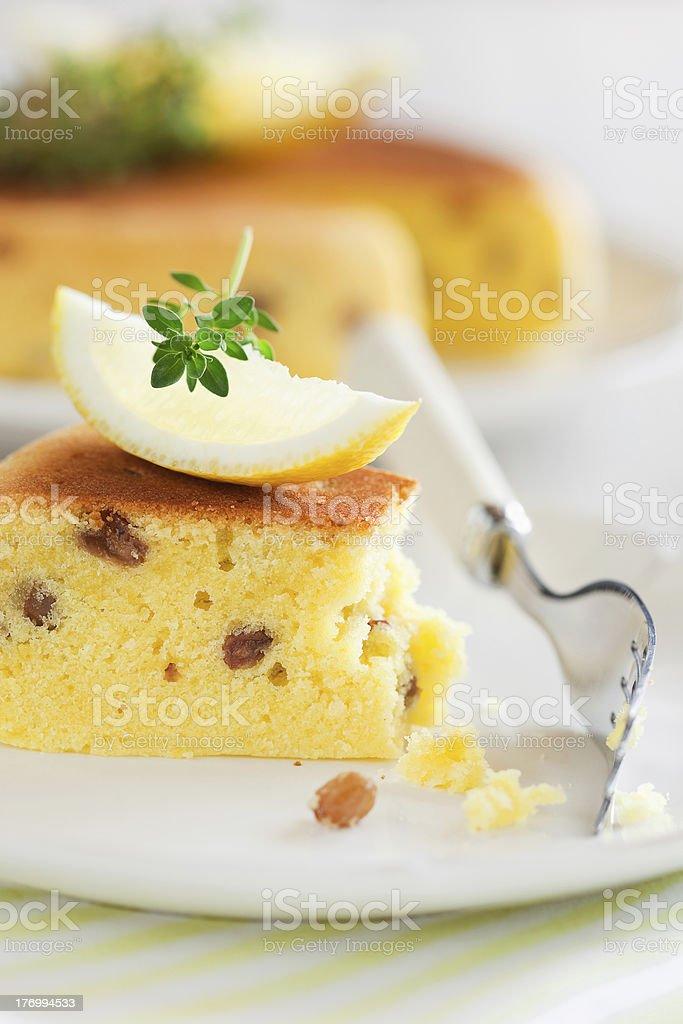 Lemon cake royalty-free stock photo