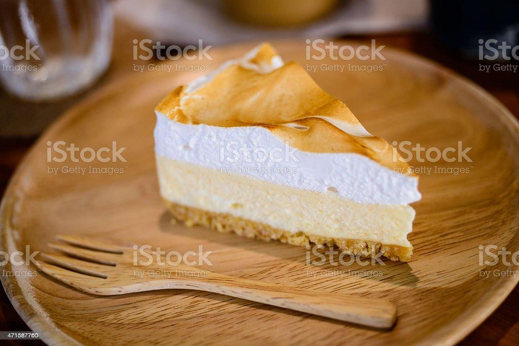 Lemon cheese cake stock photo