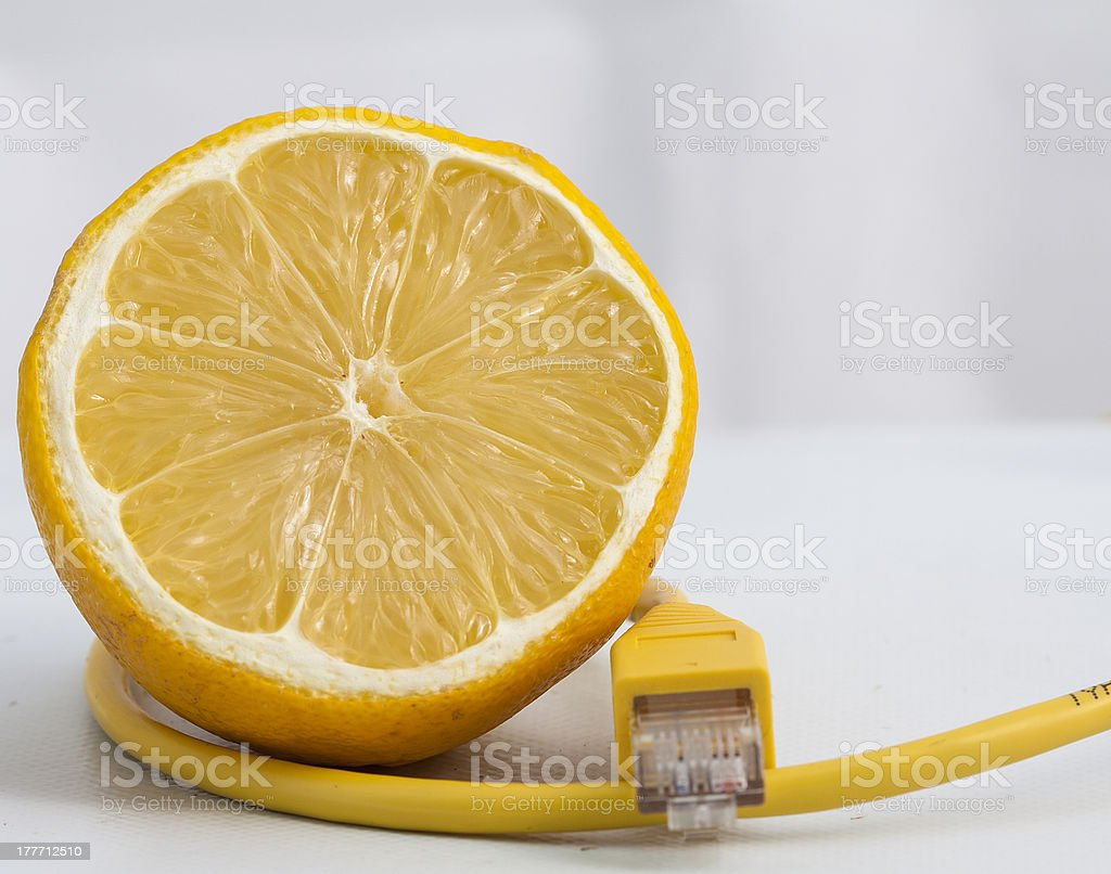 Lemon connected royalty-free stock photo