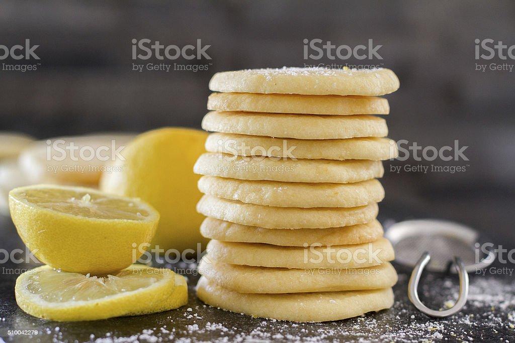lemon cookie - horiz stock photo
