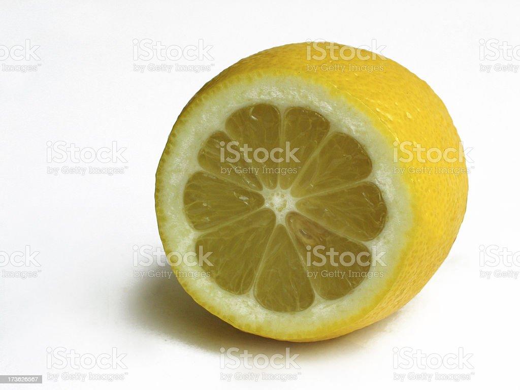 Lemon cross section royalty-free stock photo
