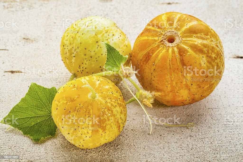 lemon cucumbers royalty-free stock photo