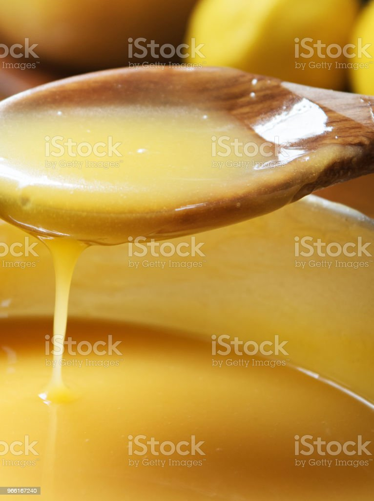 Lemon curd voedsel fotografie recept idee - Royalty-free Bakkerij Stockfoto