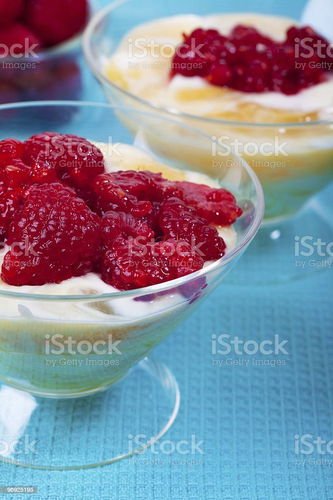 Lemon curd puddings royalty-free stock photo
