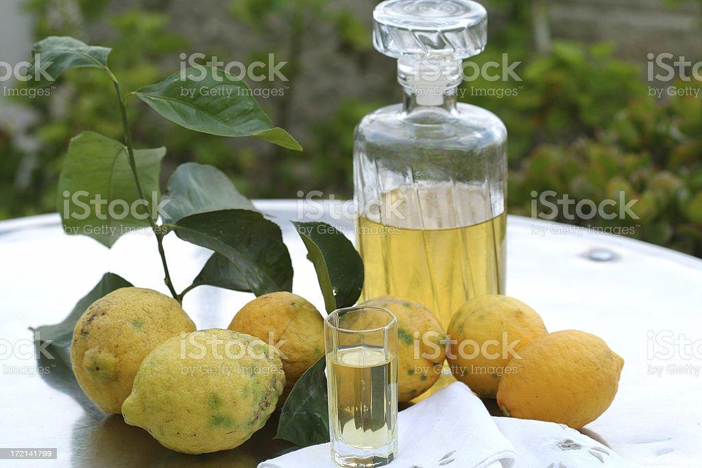 Lemon Drink, Limoncello stock photo