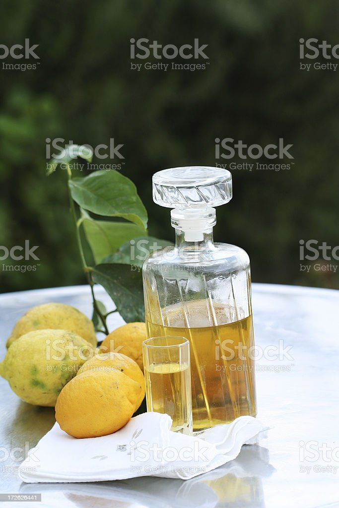 Lemon Drink, Limoncello royalty-free stock photo