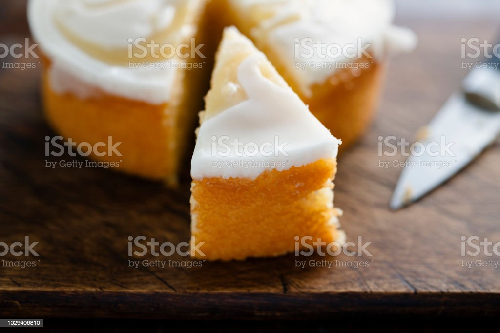 Lemon Drizzle Cake stock photo