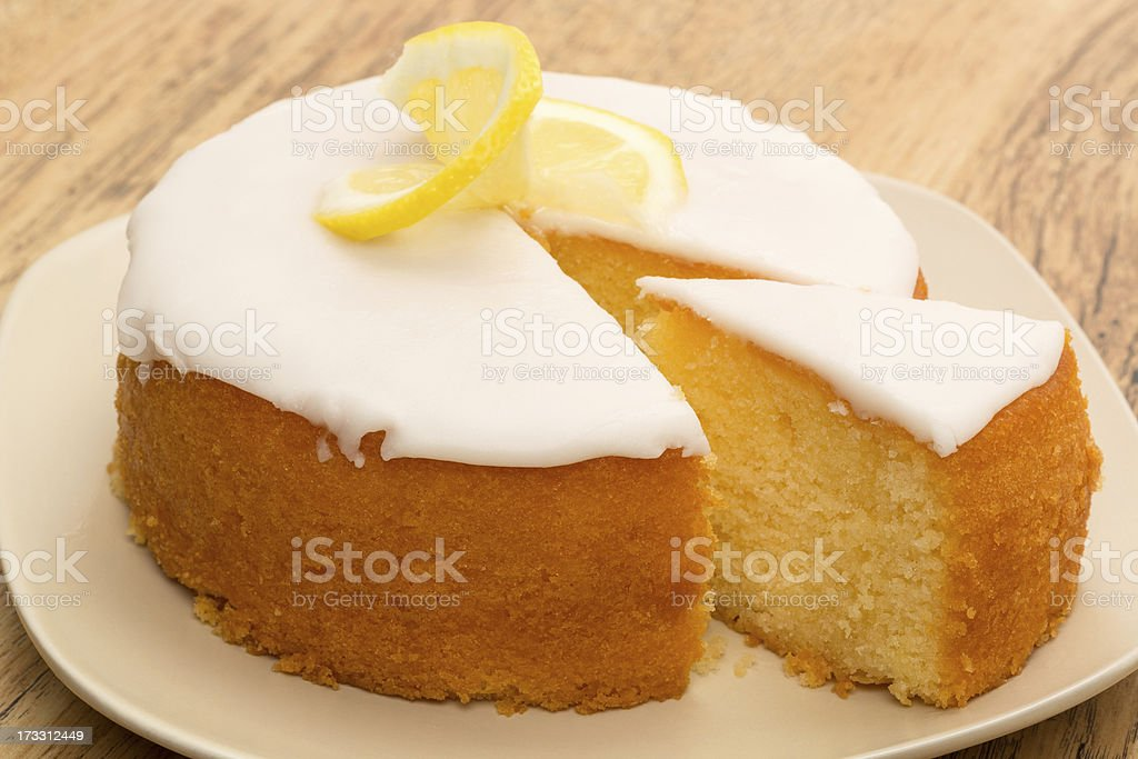 Lemon drizzle cake stock photo