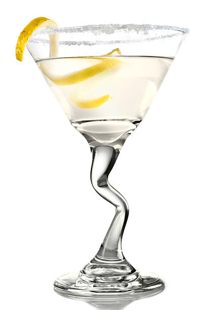 Lemon Drop Martini stock photo