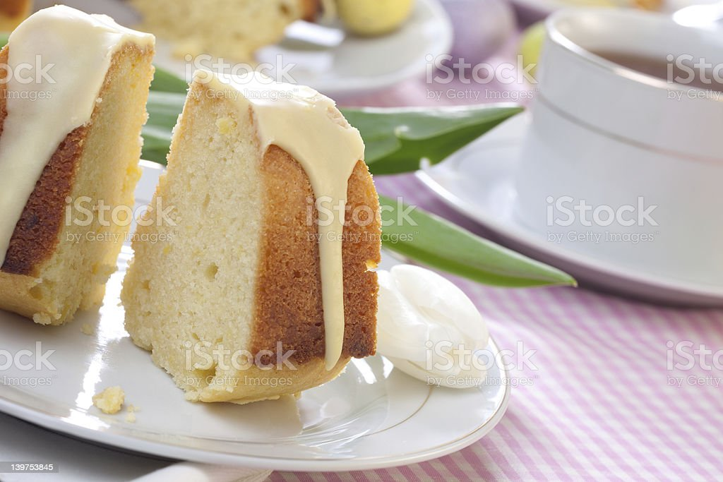 Lemon Easter Cake royalty-free stock photo