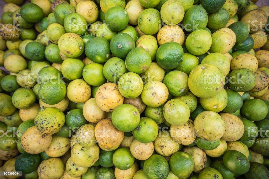 Lemon fresh market in Laos stock photo