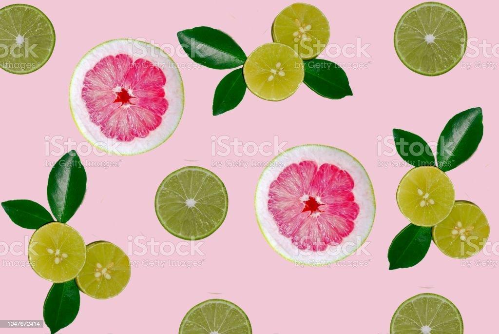 Lemon fruit isolated background with pattern style stock photo