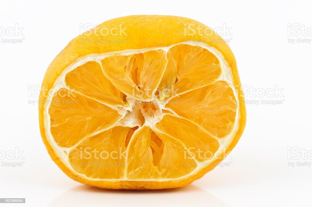 Lemon half fruit isolated on white royalty-free stock photo